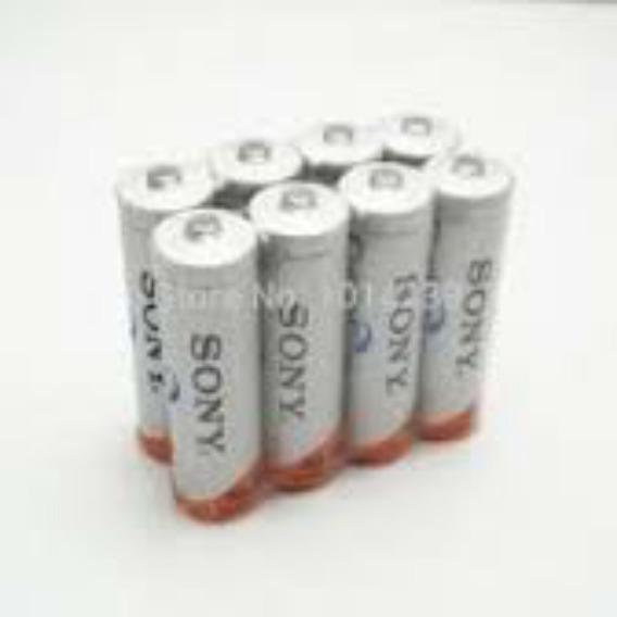 8 Pilhas Sony Aa 4600mah Recarregavel 4600mah Bateria