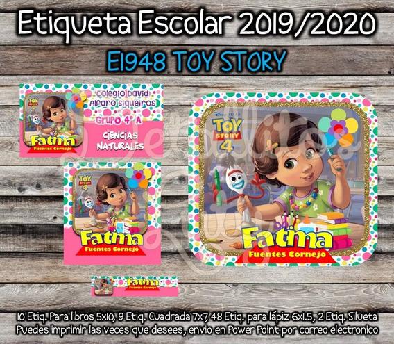 Kit Imprimible Etiquetas Escolares Bonnie Y Forky Toy Story