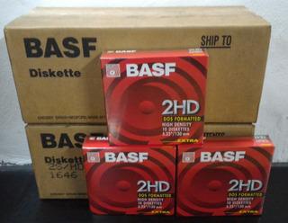 Caja De 10 Diskettes 5.25 Basf Nuevos Cerrados Envios