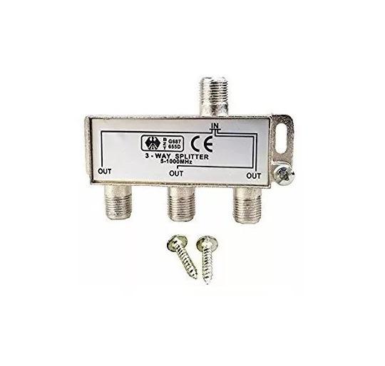 Splitter Divisor D Señal Cable Coaxil 3vías Baja Perdida Stg