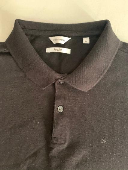 Camisa Polo Calvin Klein Preta - Tamanho P S
