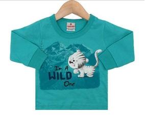 Camiseta Manga Longa Baby Tiger Brandili