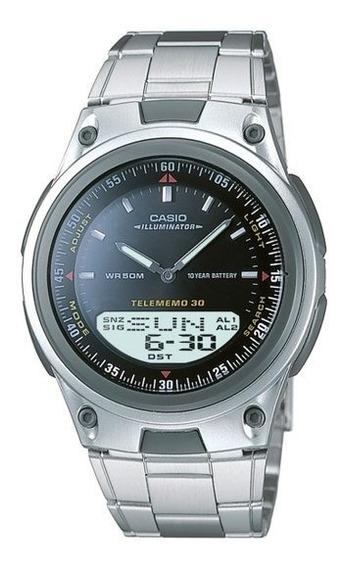 Relógio Anadigi Casio Aw-80d-1avdf - Prata