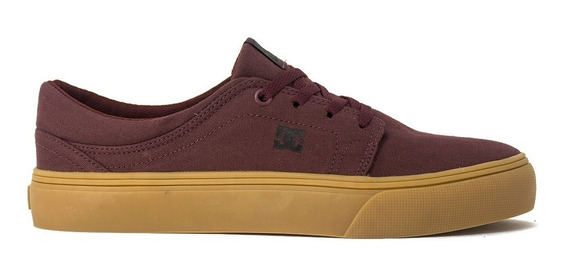 Tenis Dc Shoes Trase Tx Burgundy/tan Original Frete Gratis