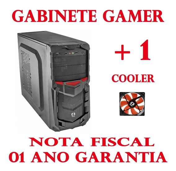 Gabinete Gamer Barato C3tech Mt-g50 Bk Sem Fonte + 1 Cooler