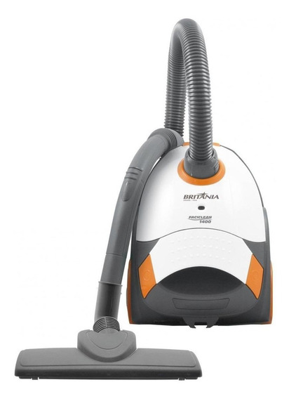 Aspirador Britânia 1400 1.5L branco, cinza e laranja 110V