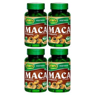 Maca Peruana Com Vitaminas 60 Cápsulas Unilife Kit 4uni