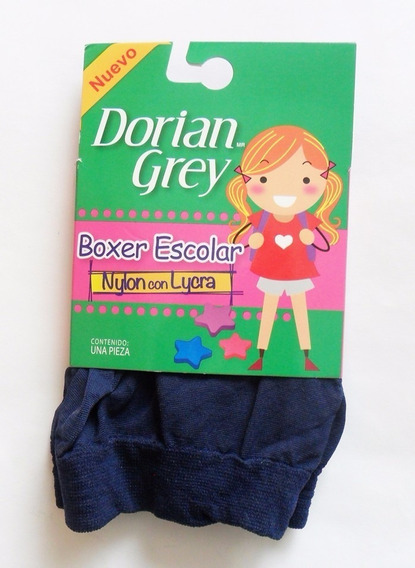 6 Boxers Escolar Dorian Grey Lycra- Nylon, Back To School
