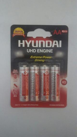 Pilas Doble A Hyundai Caja De 10 Blisters De 4 Pilas C/u