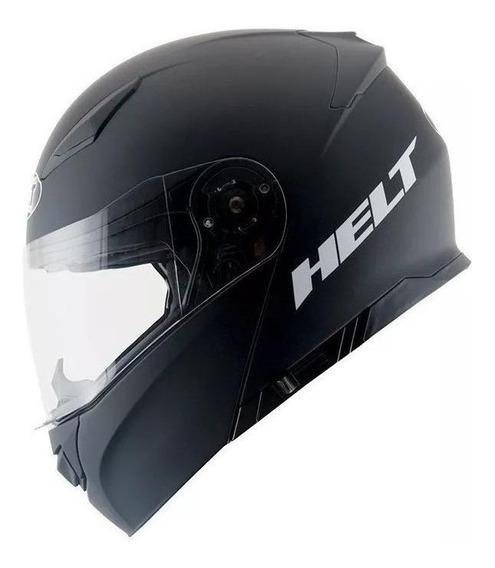 Capacete para moto escamoteável Helt Passeio Hippo Glass Preto Fosco tamanho 56