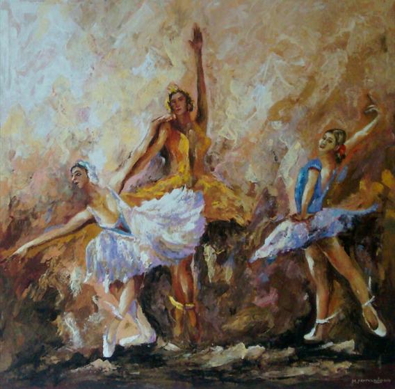 Pintura Em Tela A Óleo ,bailarinas