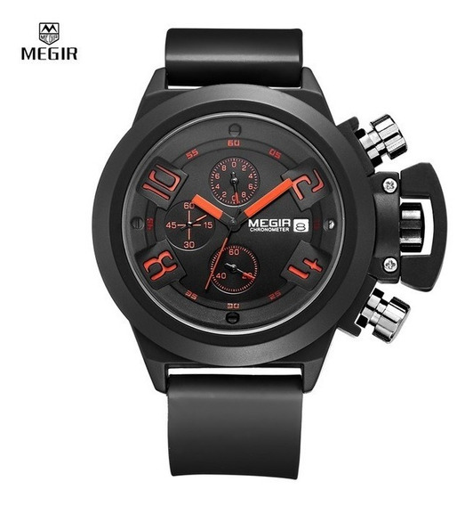 Relógio Megir 2002 Cronógrafo Prova D