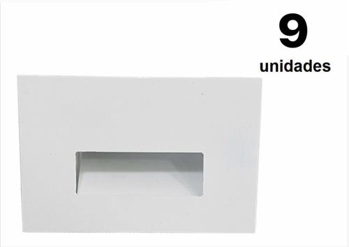 Imagem 1 de 5 de 9 Balizador Retangular Parede Escada Caixa 4x2 Led G9 Branco