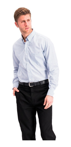 Camisa Manga Larga Polyoxford Mil Rayas Importación Oferta
