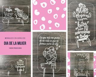 Día De La Mujer Regalos Detalles Acrílico + Caja Obsequio