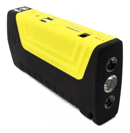 Auxiliar De Partida Veicular Portátil Bateria Power Bank Led