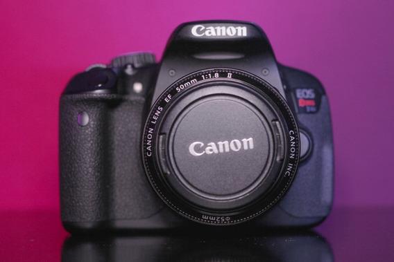 Camera Canon T4i + 50mm 1.8 + 18-55mm (ñ É T3i, T7i, T6i)