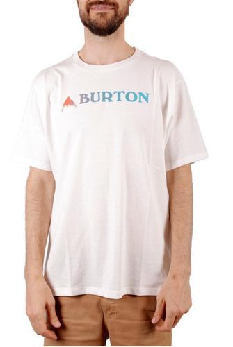 Remera Manga Corta Burton Logo Horizontal Mtn