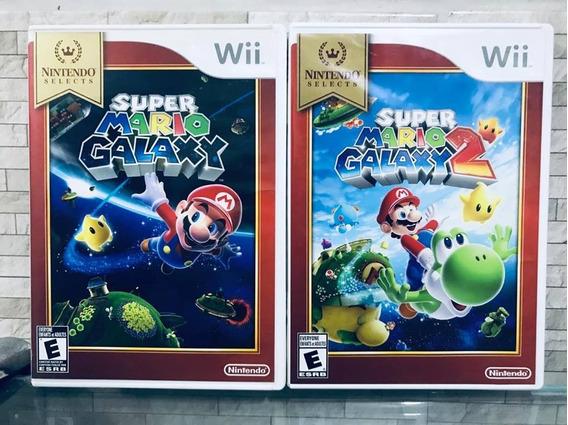 Combo 2 Jogos Super Mario Galaxy 1 E 2 Nintendo Wii
