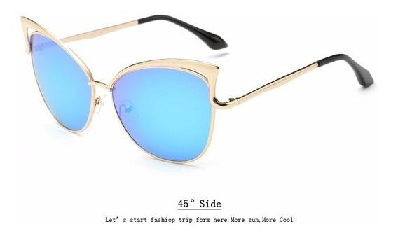 Óculos Importado Feminino Vintage Moderno Olho De Gato Luxo