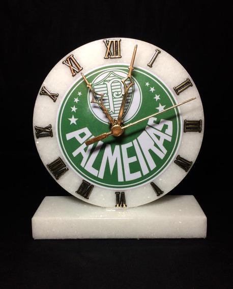 Relógio Do Palmeiras De Pedra De Mármore Branco Frete Grátis