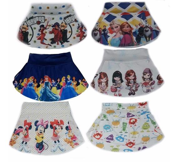 Kit 6 Saia Com Shorts Princesas, Julie -compre Já