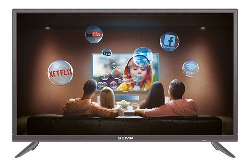 Smart Tv Led 43  Semp S3900 Full Hd Com Wi-fi 2 Hdmi 1 Usb C