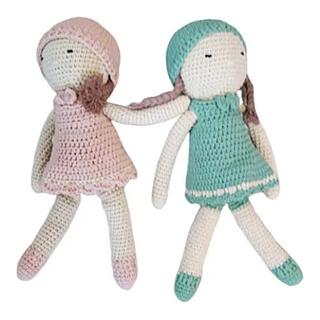 Niña Muñeca Crochet Muñeco De Apego O Decoracion