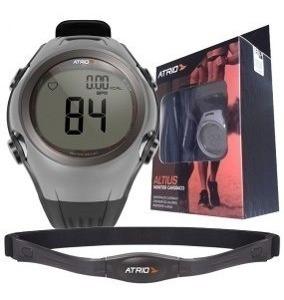 Relógio Monitor Cardíaco Atrio Altius Branco Cinza Lacrado