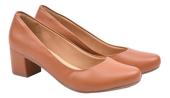 Sapato Feminino Scarpin Anabela Salto Médio 3 Eleganteria