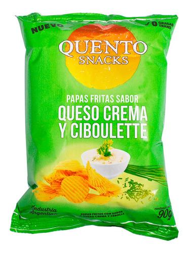 Papas Fritas Queso Crema Y Ciboulette Quento Snacks 90g