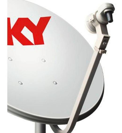 5 Antena Ku 60cm + Lnb Duplo + 100 Metros Cabo Rg6 /rg59