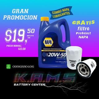 Aceite 20w50 10w30 15w40 Napa+ Filtro Con El Cambio 21,50
