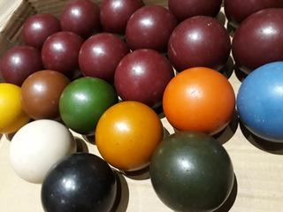 Conjunto 21 Bolas Marfim Originais Década 40 Bilhar Sinuca