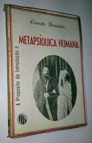 A Propósito Da Introdução À Metapsíquica Humana