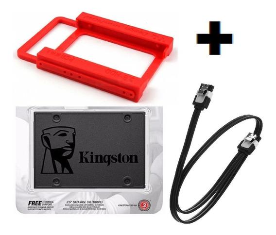 Hd Ssd 120gb Kingston + Adaptador Ssd Plastico + Cabo
