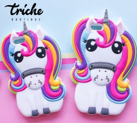 647c01a1565 Funda Unicornio Arcoiris iPhone 6 Plus iPhone 6s Plus Triche - $ 179.00 en  Mercado Libre
