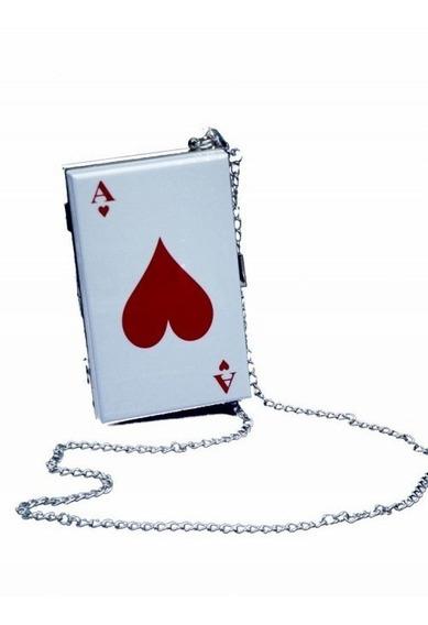 Bolsa Criativa Divertida Poker Baralho Acrílica Ás De Copa