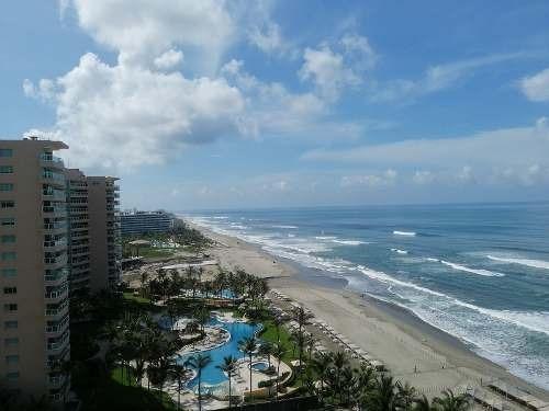 Depto En Condo Palmeiras Zona Diamante, Acapulco Con Vista Al Mar