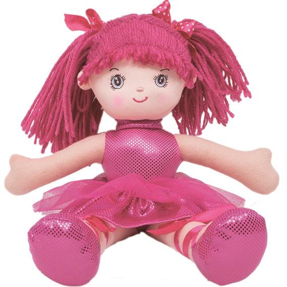 Boneca Bailarina Glitter P Pink Buba