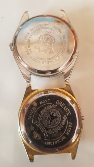 2 Relógios De Pulso Orimet S Pulseira Bateria Prova D