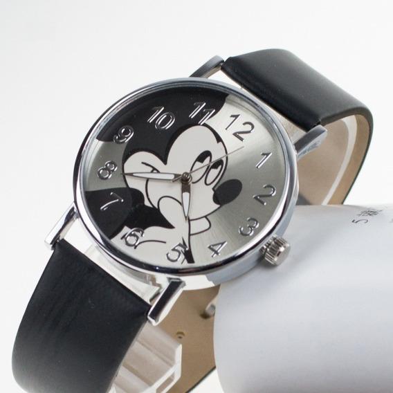 Relógio Analógico Mickey Mouse Infantil Adolescente Unisex