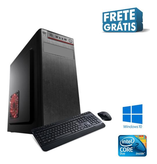 Cpu Core 2 Duo 4gb Hd 1tb Windows 10 - Brindes Mega Oferta