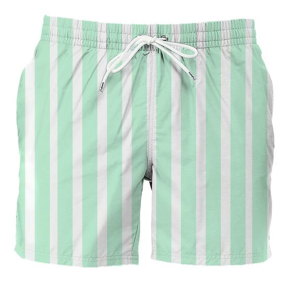 Traje De Baño Para Caballero Mint Stripes Marca Palmers