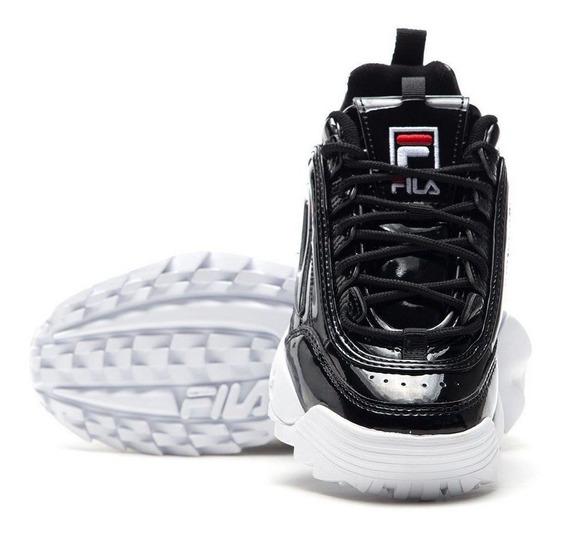 Zapatillas Negras Charoladas