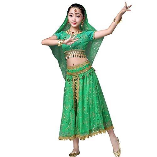 Traje De Bollywood De La Gasa De La Danza Del Vientre Traje