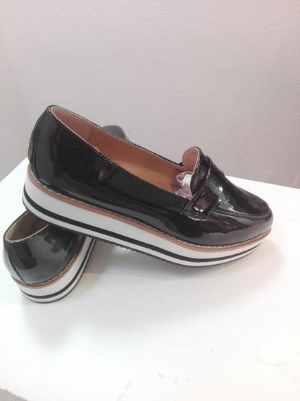 Flats Zapatos Dama Plataforma Alta Suela Eva