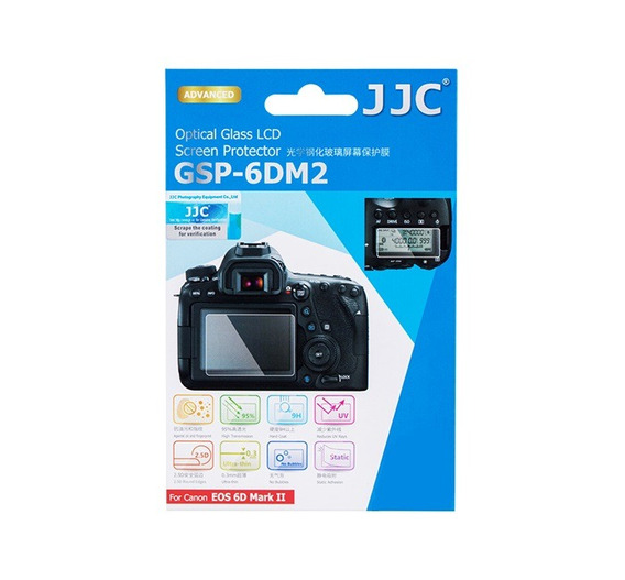 Protetor De Vidro Lcd Câmera Jjc Gsp6dm2 Canon 6d Mark Ii