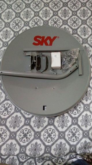 Antena 60cm +lnb Simples