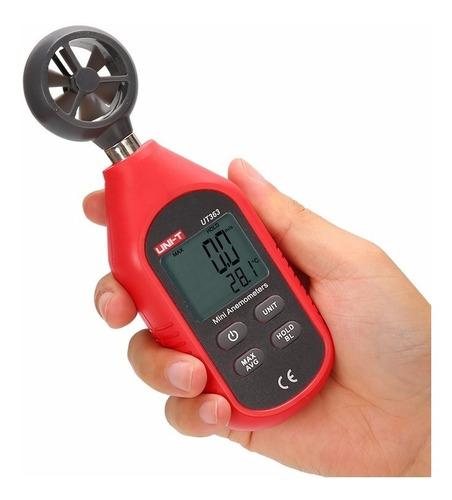 Anemometro Instrumento Digital Para Medir Medidor De Velocidad Del Viento Con Termometro Unit